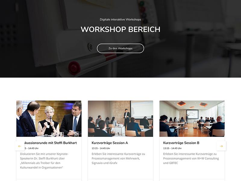 Workshops - Übersicht