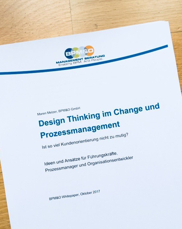 Design Thinking im Change und Prozessmanagement